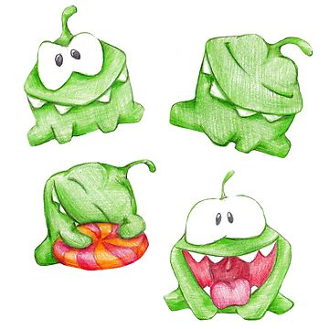 om nom. color pencil by lisenok