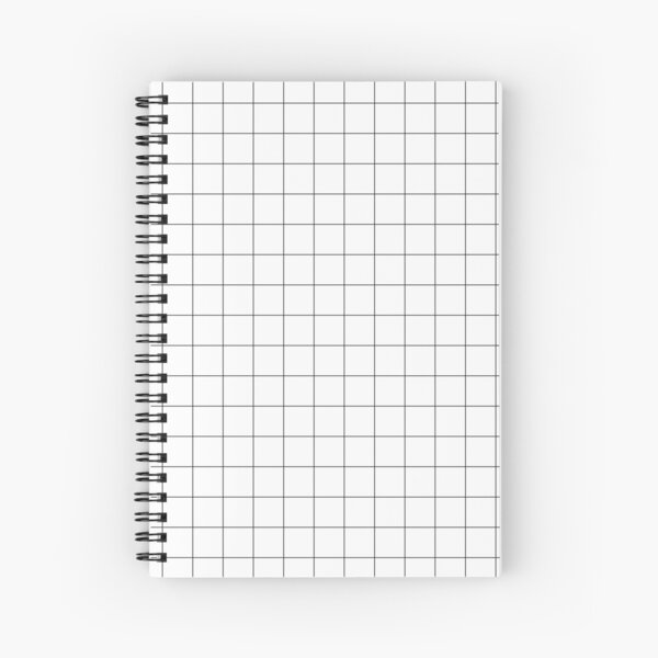 White Grid Spiral Notebook