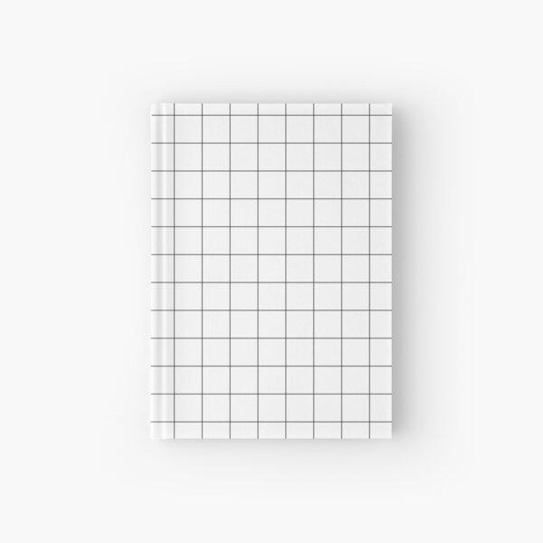 White Grid Hardcover Journal