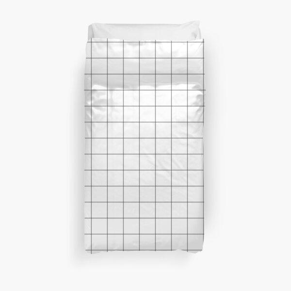 White Grid Duvet Cover