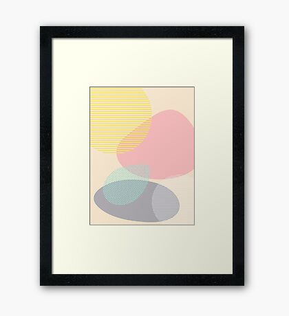 Lost In Shapes #redbubble #buyart Framed Print