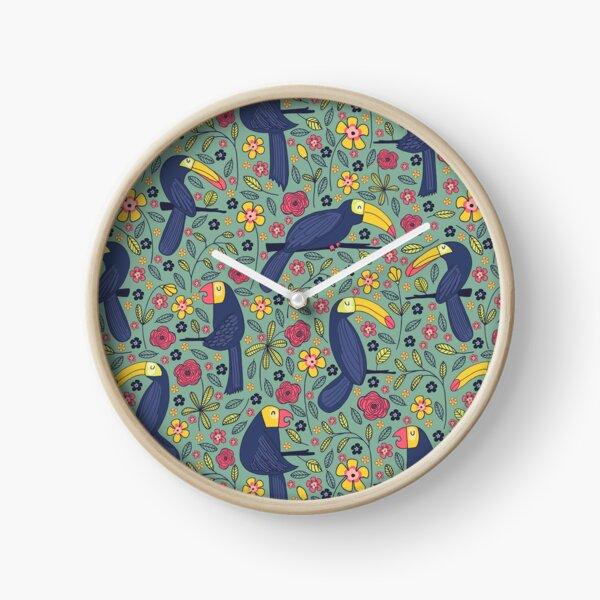 Muster 83 - Tropischer Traum von Tukanen und Papageien Uhr