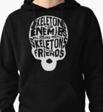 Skeletons of our Enemies - White Overflow Pullover Hoodie