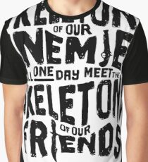 Skeletons of our Enemies - White Overflow Graphic T-Shirt
