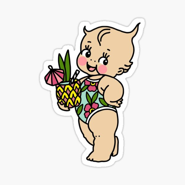 Pineapple Drink Kewpie Sticker