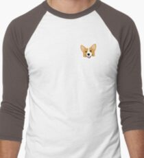 Corgi In Pocket Funny Cute Puppy Big Happy Smile Men's Baseball ¾ T-Shirt