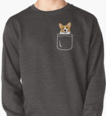 Corgi In Pocket Funny Cute Puppy Big Happy Smile Pullover