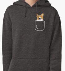 Corgi In Pocket Funny Cute Puppy Big Happy Smile Pullover Hoodie