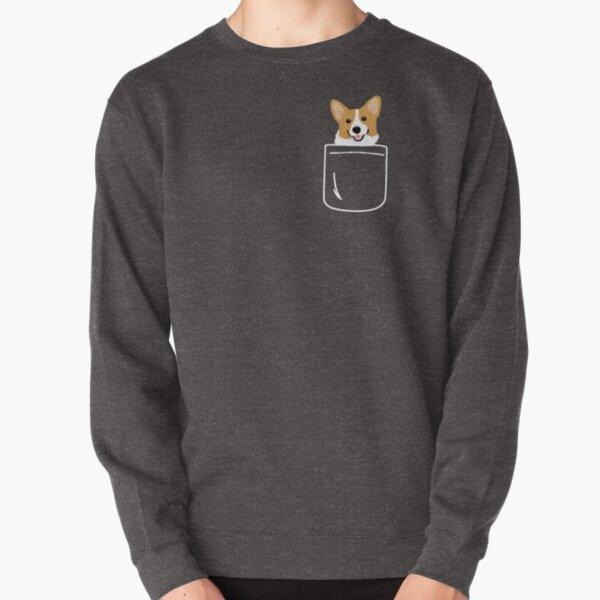 Corgi In Pocket Funny Cute Puppy Big Happy Smile Pullover Sweatshirt