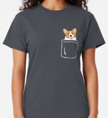 Corgi In Pocket Funny Cute Puppy Big Happy Smile Classic T-Shirt