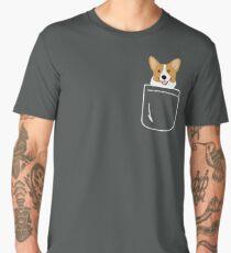 Corgi In Pocket Funny Cute Puppy Big Happy Smile Men's Premium T-Shirt