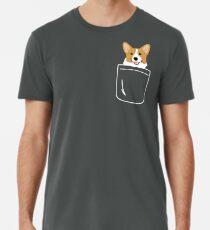 Camiseta premium Corgi In Pocket Funny Cute Puppy Big Happy Smile