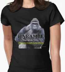 Harambe the Gorilla Women's Fitted T-Shirt