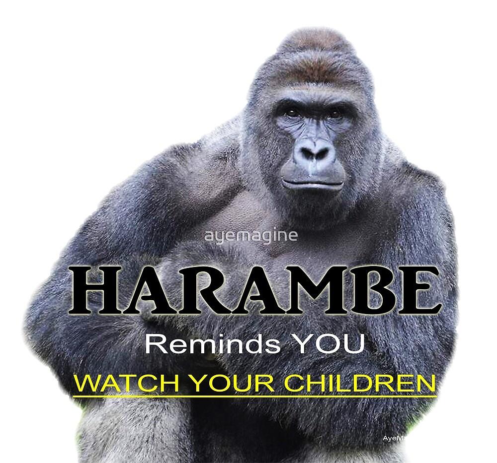 Harambe the Gorilla by ayemagine
