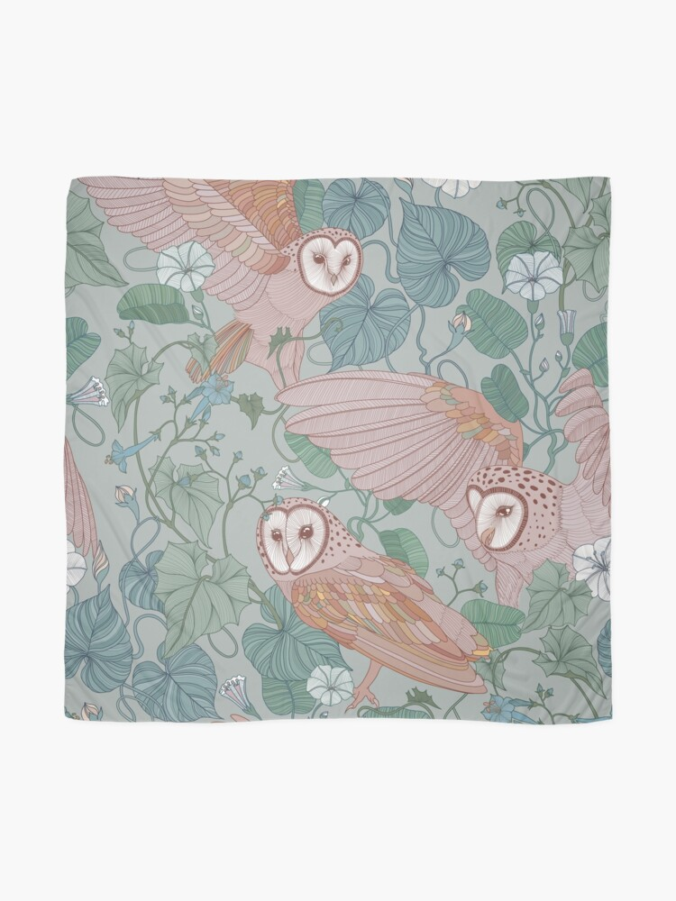 Alternate view of Pink barn owls Scarf