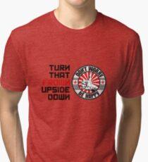 Turn that frown upside down Tri-blend T-Shirt