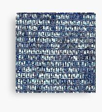 Blue Windows by FreddiJr Canvas Print