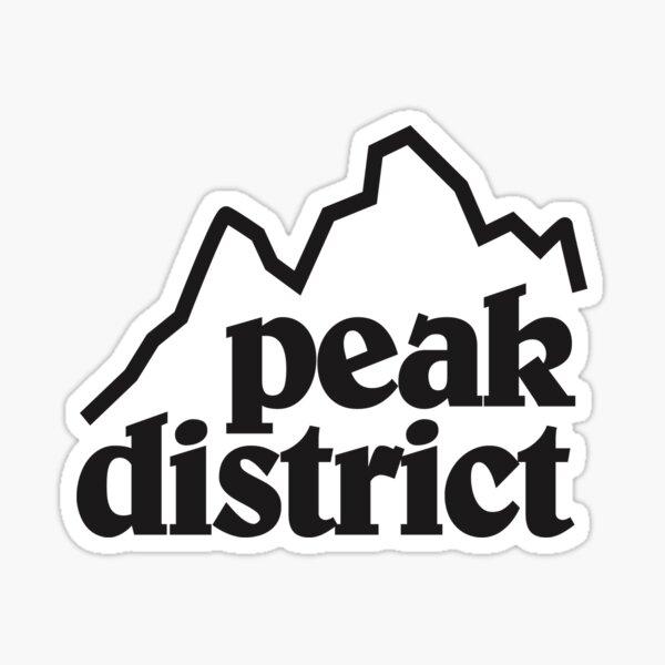Peak District Retro Logo Tee Sticker