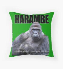 Harambe Gorilla Throw Pillow