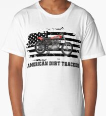 American Dirt Tracker Flat Track Racer Dirt Track Racer Long T-Shirt