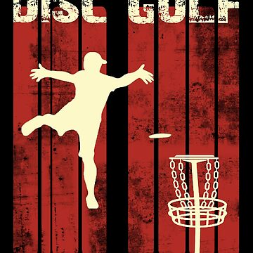 Retro Vintage Disc Golf Shirt; Disc Golf Gifts; Apparel; Frisbee by KhushbooLohia