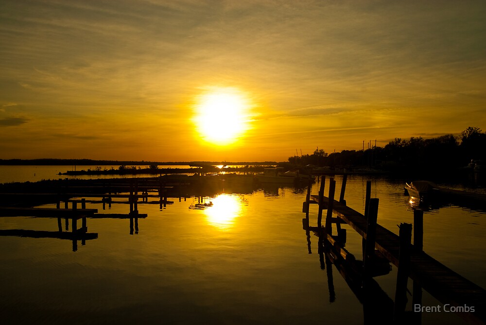 Sunset at the Marina by Brent Combs