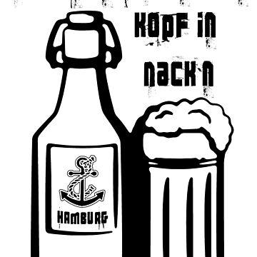 Hamburg Germany - Beer Bottle Design by lemmy666