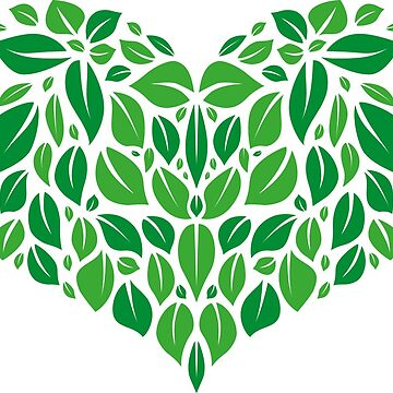 Heart of green leaves. by Afone4ka