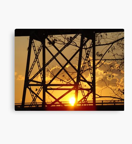 Huey P. Long Bridge (Sunset) Canvas Print