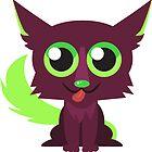 Cute Dumb Brown Green Doggo by cutecartoons