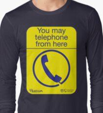 Sie können von hier aus telefonieren Langarmshirt