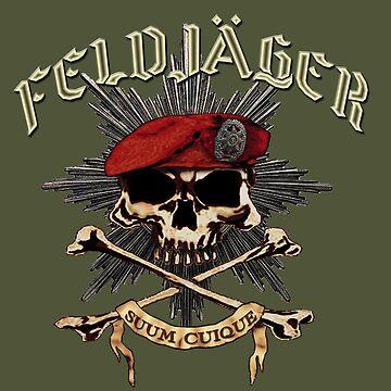 Feldjager Skull w/ Prussian Star by ZeroAlphaActual