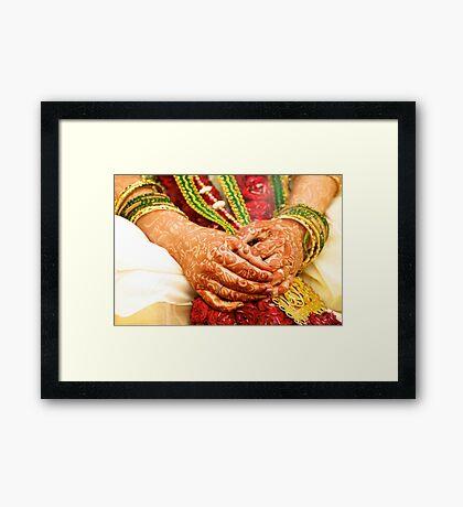 The Bride's Hands Framed Print