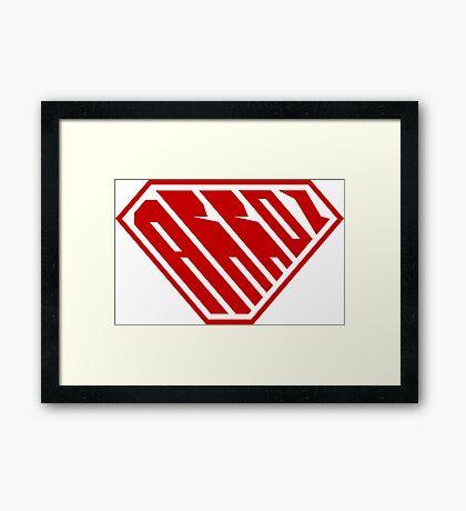 Arroz SuperEmpowered (Red) Framed Art Print