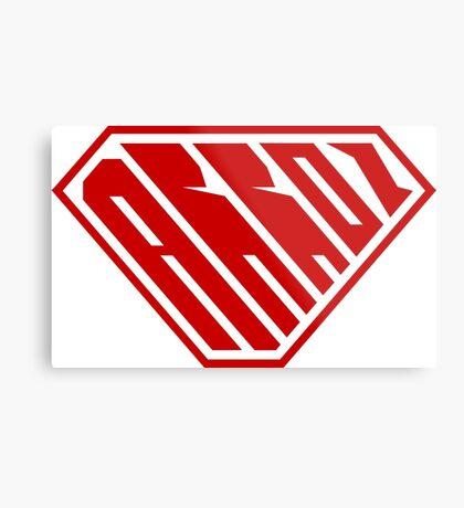 Arroz SuperEmpowered (Red) Metal Print