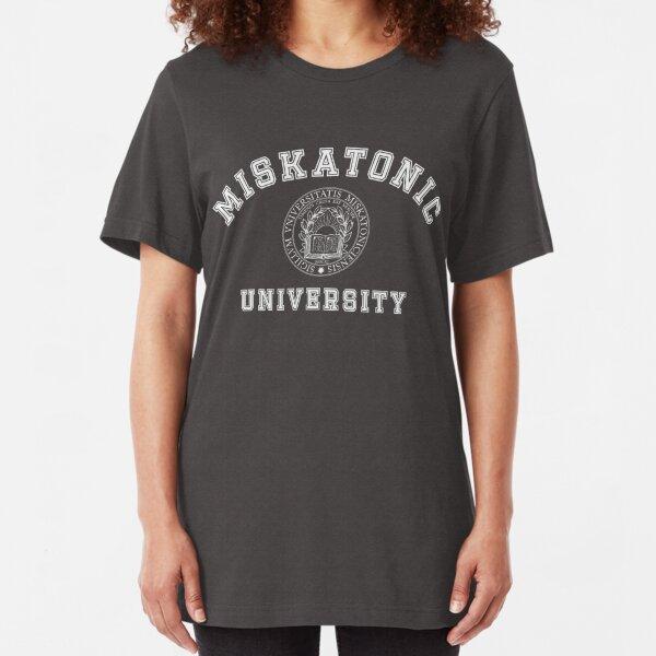 Miskatonic University with Seal, light print Slim Fit T-Shirt
