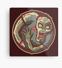 Zombies All Around Metal Print