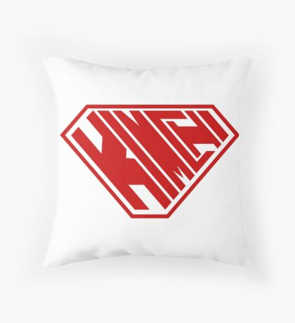 Kimchi SuperEmpowered (Red) Throw Pillow