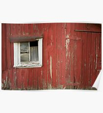 Red Shed Window 1 Poster