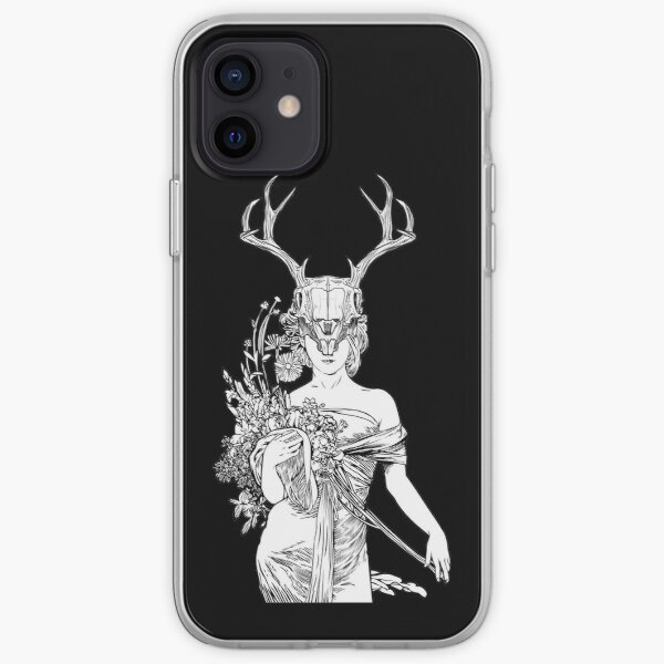 Witch Sorceress Deer Skull iPhone Soft Case