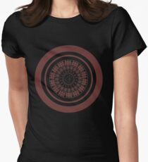 Runic Love Protection Man Toward Woman (red) Women's Fitted T-Shirt