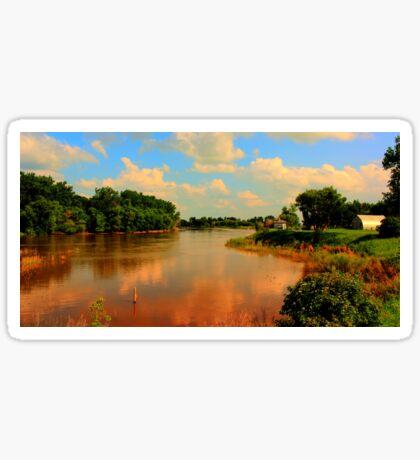 Assiniboine River...HDR Sticker