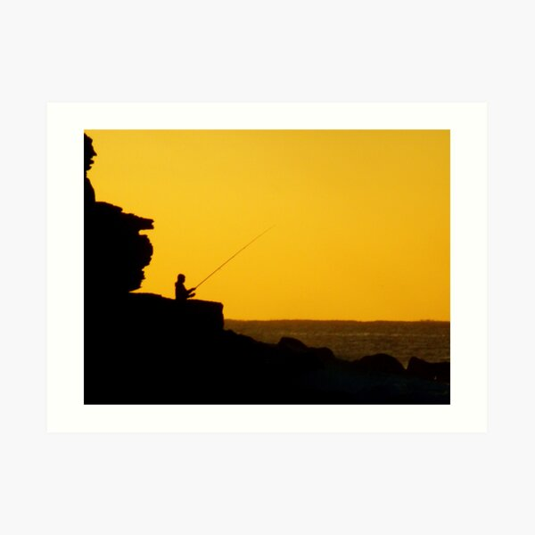 Fishing at Dawn Art Print