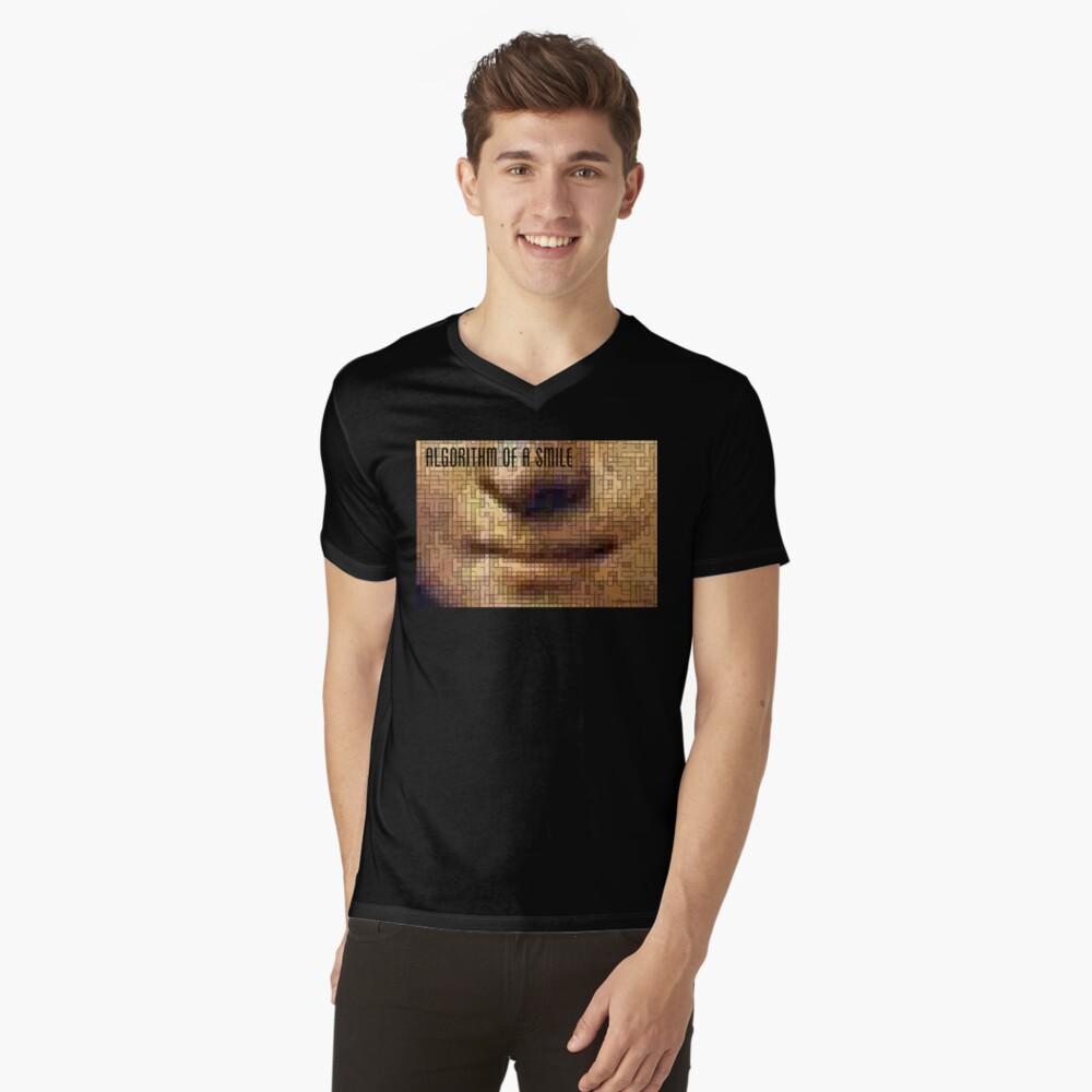 Algorithm of a Smile Men's V-Neck T-Shirt Front
