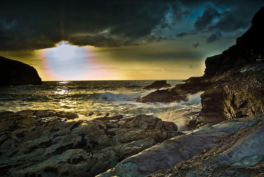 Port Gaverne sunset 2 by David Wilkins