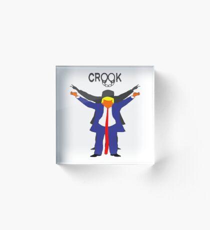 Crook Trump Acrylic Block
