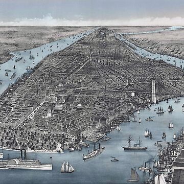 MANHATTAN, NEW YORK CITY - 1886 by PineLemon