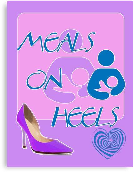 Meals on Heels! Breastfeeding Design by incurablehippie