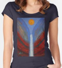 Skyfall original painting Women's Fitted Scoop T-Shirt