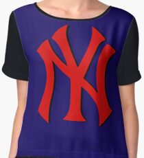 yankess logo duvet Chiffon Top